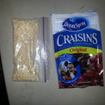 Crushed Cashews and Crasins