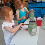 S&L painting mason jars.
