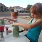 S&L painting mason jars